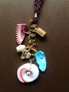 By the Sea - Seashell Charms - Handmade Hemp Necklace on Etsy, $15.00