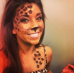 Obsessed with my leopard halloween makeup!