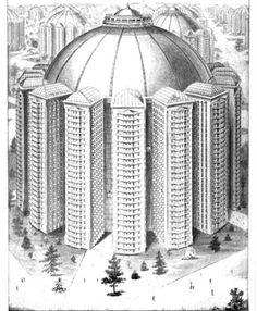 Before his name was inextricably connected to safety razors, King Camp Gillette had a utopian vision for the future which revolved around a waterfall-powered tiered city he dubbed 'Metropolis'. All residents of this imagined city would have access to the same amenities including rooftop gardens in the perfectly round, precisely divided multi-functional buildings in which they would live, work, play and eat.
