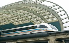 From Shanghai airport to Shanghai No point in even trying to take in the scenery on this one. It was the first commercially used maglev (mag...