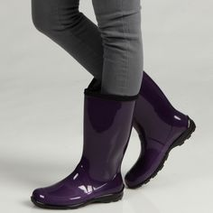 @Overstock - Feel free to jump in the puddles when you wear these stylish Kamik PVC rain boots. Rising to the mid-calf, these galoshes offer both function and flair. They are available in a variety of fun colors to complement your autumn wardrobe.http://www.overstock.com/Clothing-Shoes/Kamik-Womens-Heidi-Yellow-Rain-Boots/6385119/product.html?CID=214117 $31.99