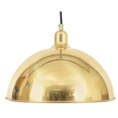 Set of Four Polished Brass Pendants by Florian Schulz