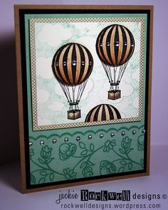 Hot air balloon card. I like the colours of the balloons.