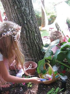Make a little tea party in the garden for the fairies
