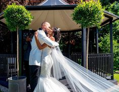 Outdoor wedding| Bridal accessory| trending weddings| Bride&Groom| Bride Groom, Wedding Bride, Wedding Dresses, Beauty Studio, Bridal Updo, Wedding Trends, Bridal Accessories, Hair Trends, Wedding Hairstyles
