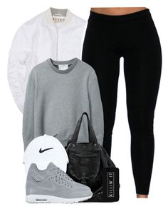 """""""Grey Matter."""" by cheerstostyle ❤ liked on Polyvore featuring 3.1 Phillip Lim, Jérôme Dreyfuss, NIKE and LG"""