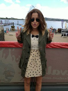 Caroline Flack in our, 'Come Fly With Me' Dress Caroline Flack Hair, Caroline Flack Style, Bird Dress, Everyday Look, Pretty Hairstyles, Celebrity Style, Cute Outfits, Style Inspiration, Fashion Outfits