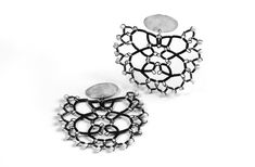 Pearl Steel Lace Earrings by Sarah Holden
