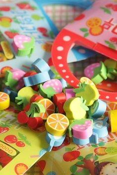 Super Kawaii Eraser Set - Little Fruits