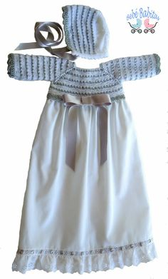 Handmade baby clothes The choice of baptism dresses for children goes to u … Baby Baptism, Baptism Dress, Baby Knitting, Crochet Baby, Handmade Baby Clothes, Baby On The Way, Baby Patterns, Baby Wearing, Baby Dress