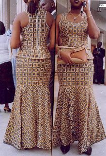 Beautiful Ankara Skirt and Blouse 2018 African Dresses For Women, African Print Dresses, African Print Fashion, Africa Fashion, African Attire, African Fashion Dresses, African Wear, African Women, African Traditional Dresses