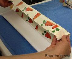Pinguinho de Arte: PAP Como fazer barrado em pano de prato - Sugestão 2