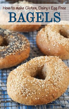 Stop overpaying for Gluten Free Bagels. Making your own at home is easier than you think, and these bagels are free from gluten, eggs, and dairy. Low Carb Bagels, Gluten Free Bagels, Gluten Free Cooking, Vegan Gluten Free, Dairy Free, Paleo, Vegan Bagel, Architecture Design, Bagel Recipe