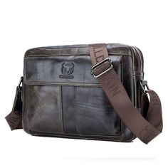 Men s Hi-Q Genuine Leather Handbag Business Briefcase Messenger Shoulder Bag   fashion  clothing b8417a19c6