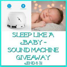 Sleep Like A Baby - Sound Machine Giveaway