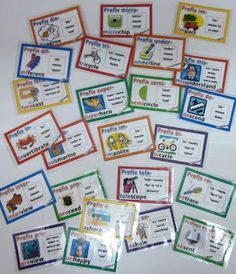 Prefix Cards with Definitions Illustrations and Examples $ #vocabulary #wordwork