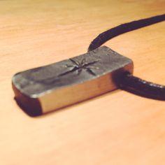 Small pendant. #handforged #pendant #blacksmithing #forged #metal