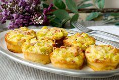 Mini #Quiches de Puerro #calabacín y #bacon #receta