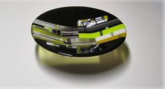 Busy as a Bee Contemporary Fused Glass Bowl by JanuaryMayDesigns