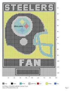 Steelers football x-stitch Plastic Canvas Tissue Boxes, Plastic Canvas Crafts, Plastic Canvas Patterns, Plastic Craft, Steelers Flag, Pittsburgh Steelers, Steelers Blanket, Steelers Stuff, Packers Football