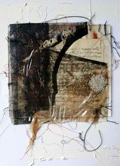 iamjapanese:  Marian Bosch(South African, b.1962) Memory Thread   mixed media on canvas