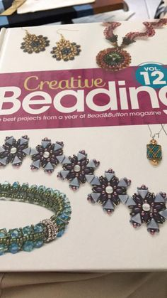 """My """"Pyramids of Nubia"""" bracelet is on the front cover : Creative Beading Volume 12"""