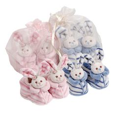 Paul & Norma Baby #Shoes is soft #plush #bunny (newborn) #baby #shoes with a built in #rattle. They come in their own little bag. - $25.99