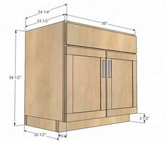 Image result for free plans for kitchen cabinets