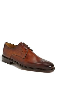 Magnanni 'Orleans' Medallion Toe Derby available at #Nordstrom