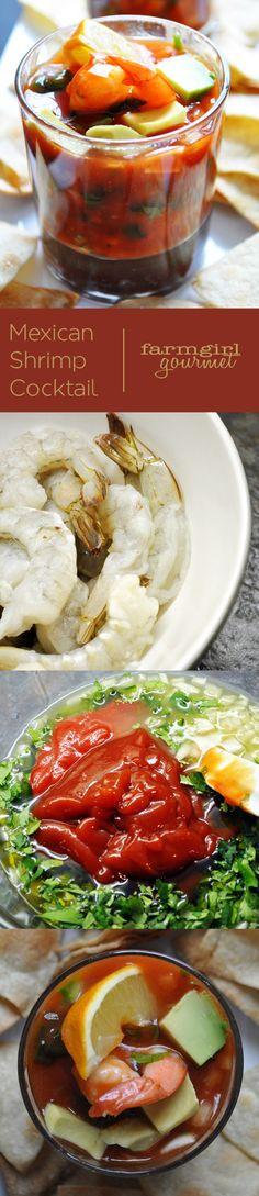 Mexican Shrimp Cocktail   farmgirlgourmet.com #recipe #shrimp