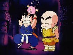 Dragon Ball. I don't know who looks funnier. Goku or Krillin..