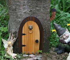 A Fairy door / Gnome door that OPENS 12 inch by NothinButWood