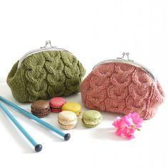 Ravelry: Macaroon Knitted Purse pattern by Kyoko Nakayoshi. Traci we need to make these!