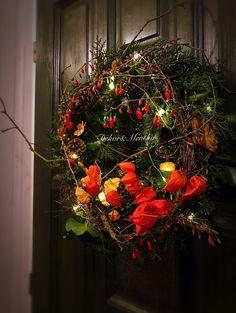 Adventi ajtódísz - természet és otthon - Dekor és Mentha Advent, Christmas Wreaths, Holiday Decor, Fall, Home Decor, Autumn, Decoration Home, Fall Season, Room Decor
