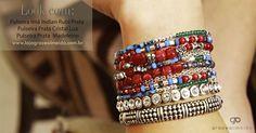Pulseira Imã Indian Rubi Prata www.lojagracealmeida.com.br  #fashion #pulseirismo #trend #prata #bali #pedrasbrasileiras #jewelry #love