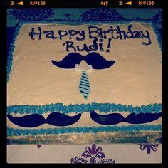 Moustache and tie birthday cake!
