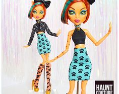 """Monster Doll Haunt Couture 2017 """"Cat Call"""" ever after high fashion doll clothes dress"""