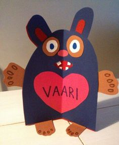 Väriterapiaa isänpäivänalle Fall Crafts, Diy And Crafts, Arts And Crafts, Dad Day, Fathers Day Crafts, Hobbies And Crafts, Little People, Diy Cards, Birthday Wishes