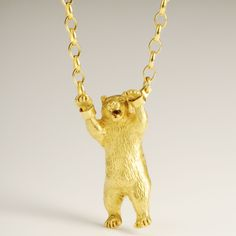 Image of Hand Cuffed Bear Necklace