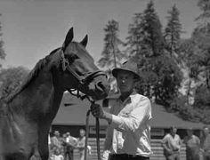 Seabiscuit at Ridgewood Ranch c.1940