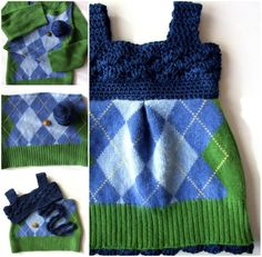 A peak into how I made my newest ooak Upcycled Sweater Baby Dress