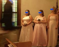 What is this black figure at a wedding held in a church? Per the original submitter, neither guests nor bridesmaids noticed anything strange during the ceremony.