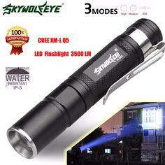 High Quality  Mini 3500LM Zoomable CREE Q5 LED Flashlight 3 Mode Torch Super Bright Light Lamp #Affiliate