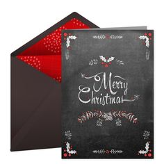 Send free digital holiday and christmas thank you cards we love christmas card with a gorgeous chalkboard design easily personalize with your own holiday greeting and send to friends and family via email for free m4hsunfo