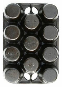 Antique Griswold Popover Pan Cast Iron by SeaGlassPrimitives, $95.00