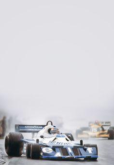 "roughgrid: "" Rough and spectacular… Patrick Depailler (Elf Team Tyrrell) with Jean-Pierre Jabouille (Equipe Renault Elf) during the 1977 United States Grand Prix at Watkins Glen "" F1 Racing, Road Racing, Motogp, Gp F1, Gilles Villeneuve, Watkins Glen, Formula 1 Car, Indy Cars, Car And Driver"