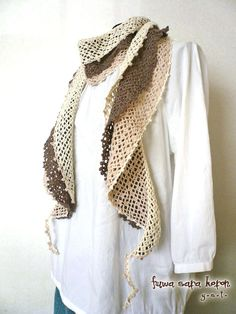 crochet scarf inspiration layered
