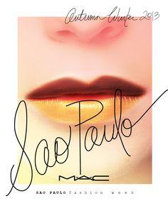 "maccosmetics: "" Up Close, Backstage and Behind-the-Scenes at AW13 São Paulo Fashion Week """