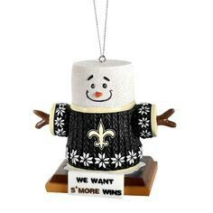 New Orleans Saints ornament We Want S'More Wins