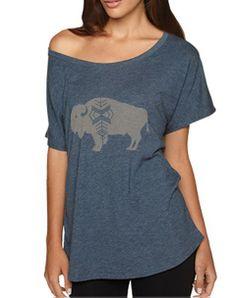 Buffalo shirt.